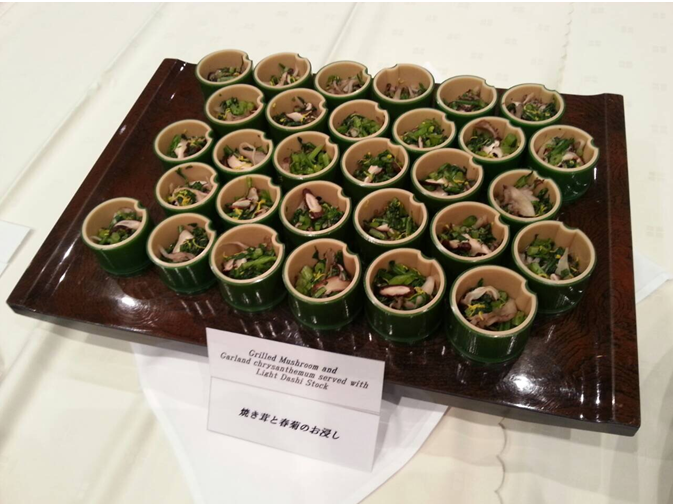 Grilled mushroom at halal expo japan 2015
